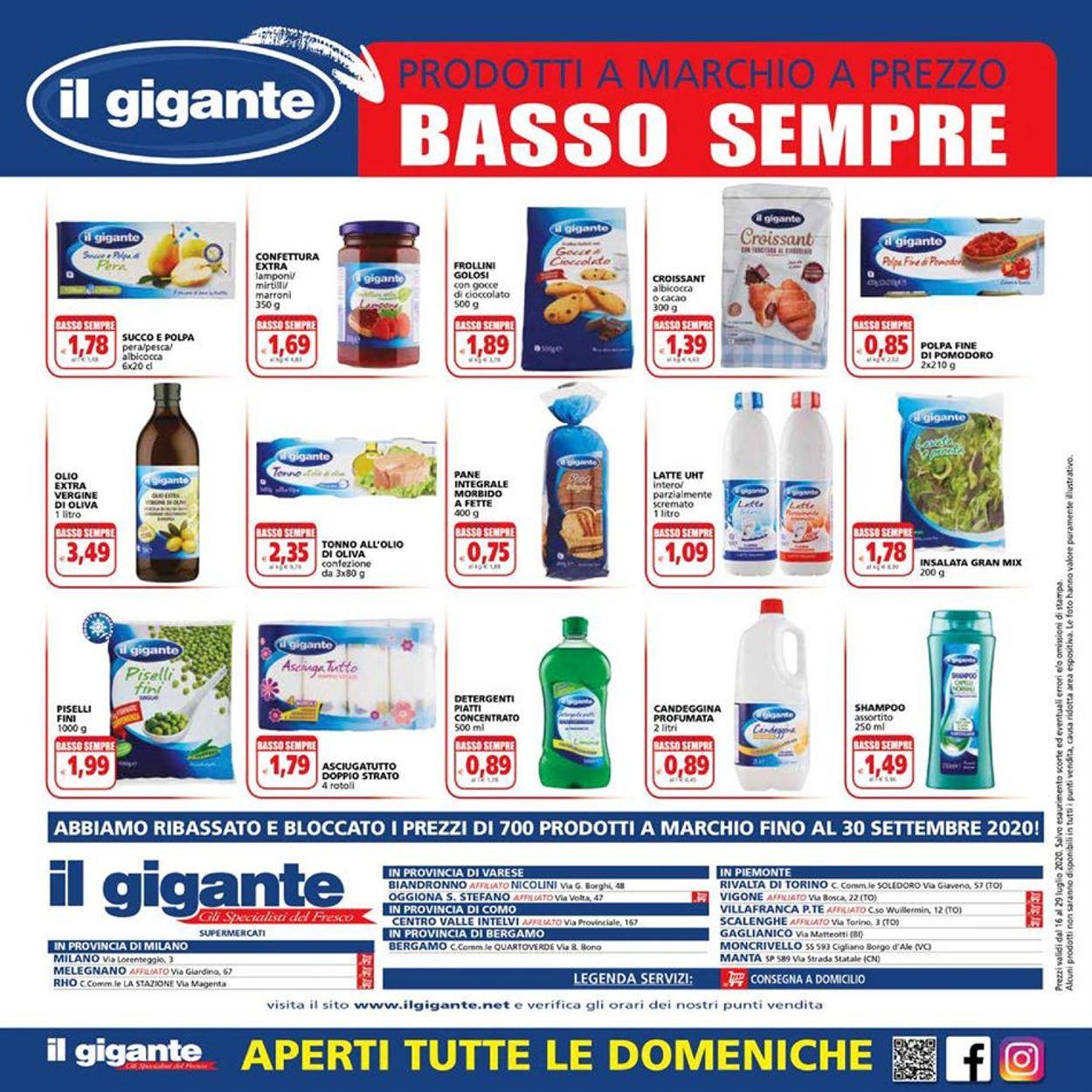 Volantino Il Gigante - Offerte 16/07-29/07/2020 (Pagina 16)