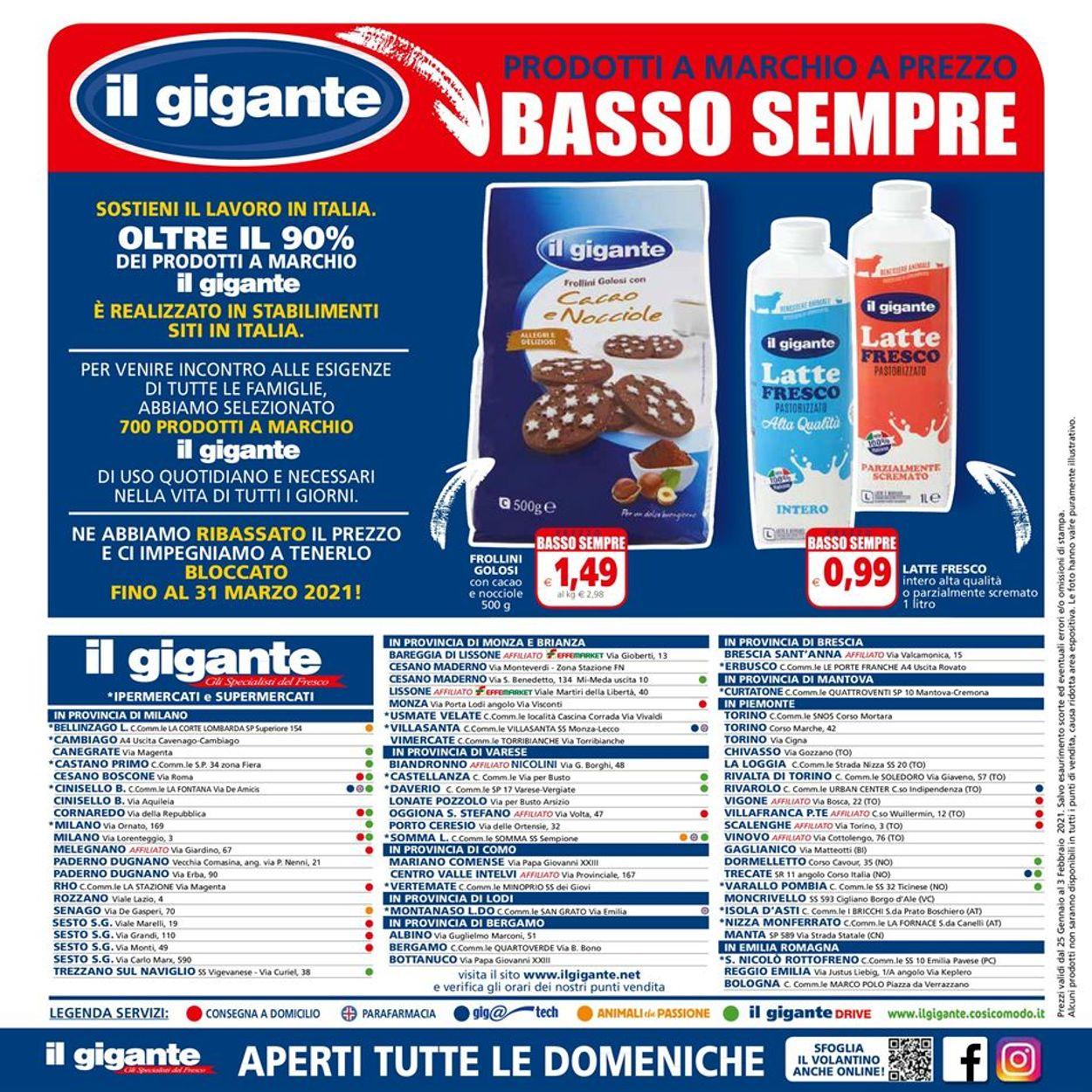 Volantino Il Gigante - Ipermercati - Offerte 25/01-03/02/2021 (Pagina 24)