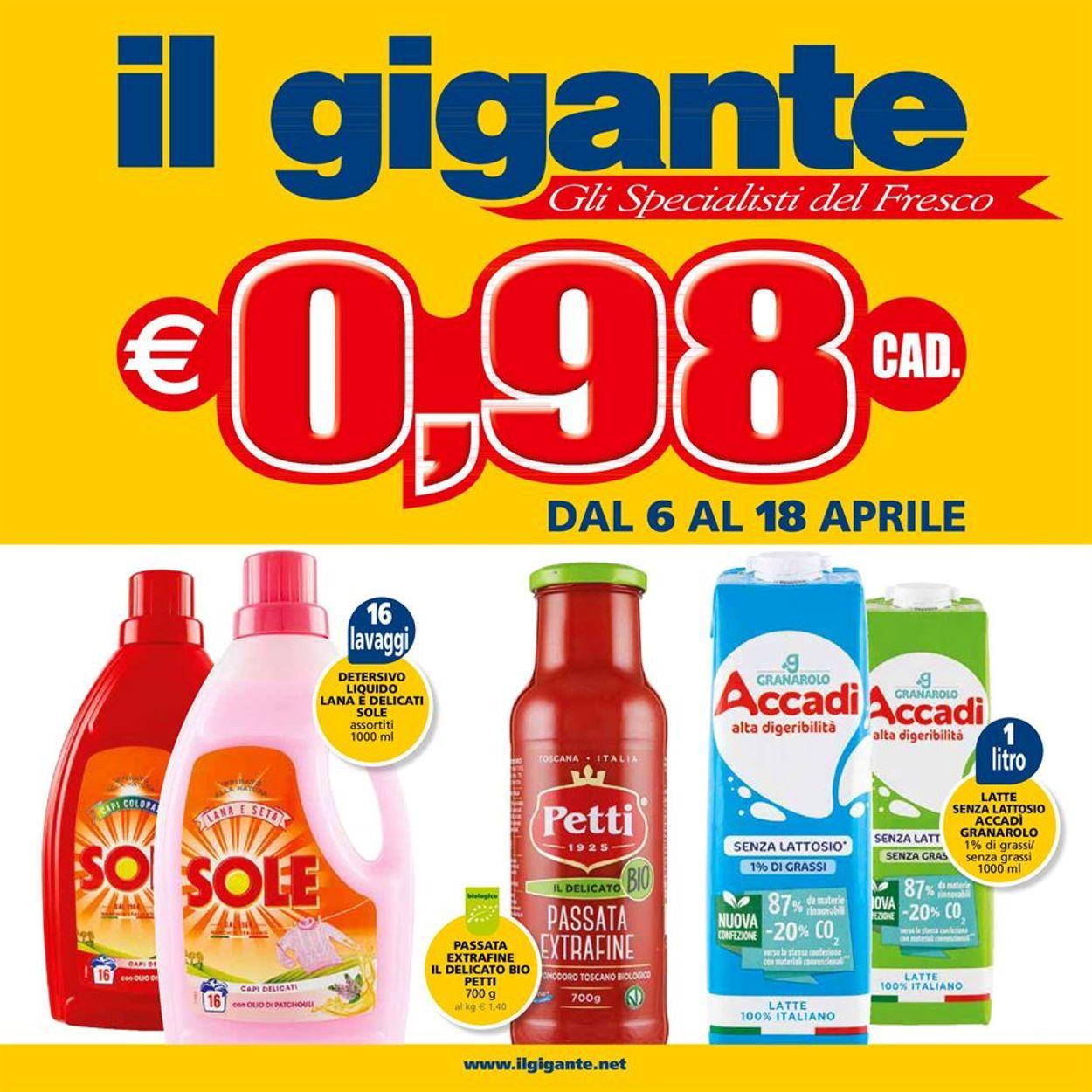 Volantino Il Gigante - Offerte 06/04-18/04/2021