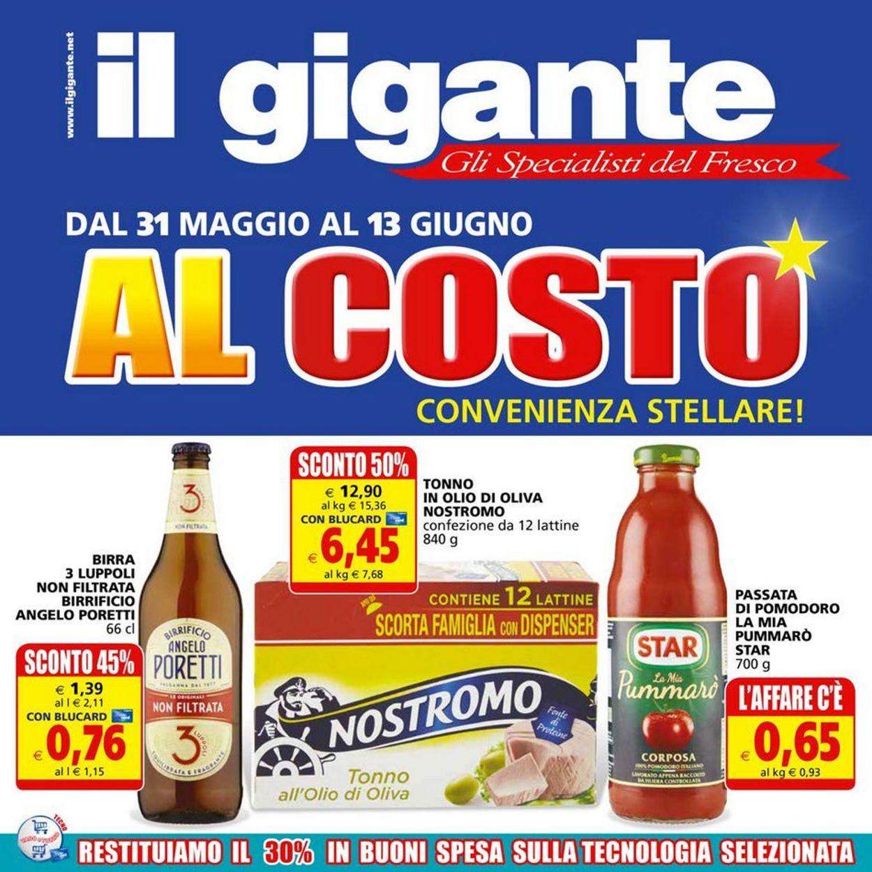 Volantino Il Gigante - Offerte 31/05-13/06/2021