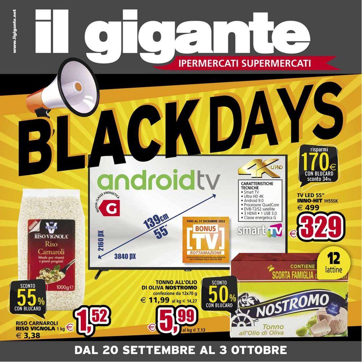 Volantino Il Gigante - Offerte 20/09-03/10/2021