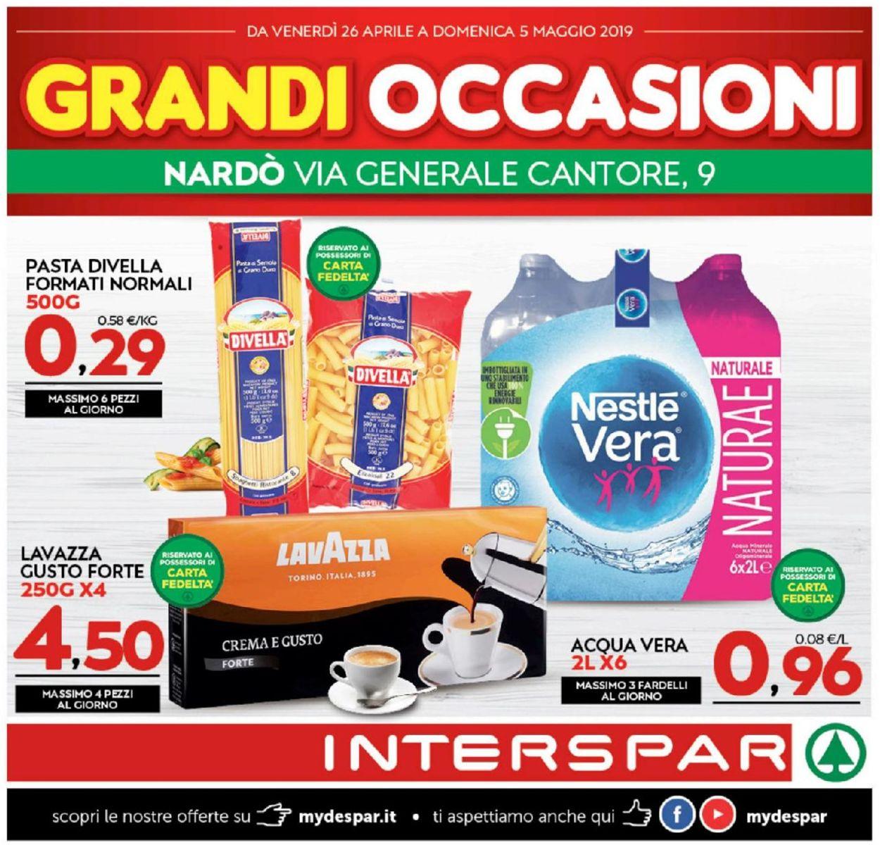 Volantino Interspar - Offerte 26/04-05/05/2019