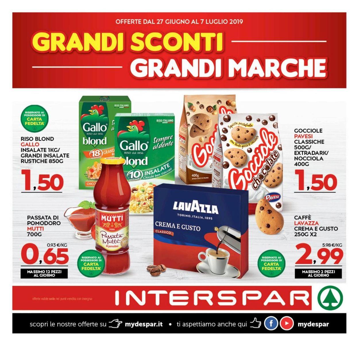 Volantino Interspar - Offerte 27/06-07/07/2019