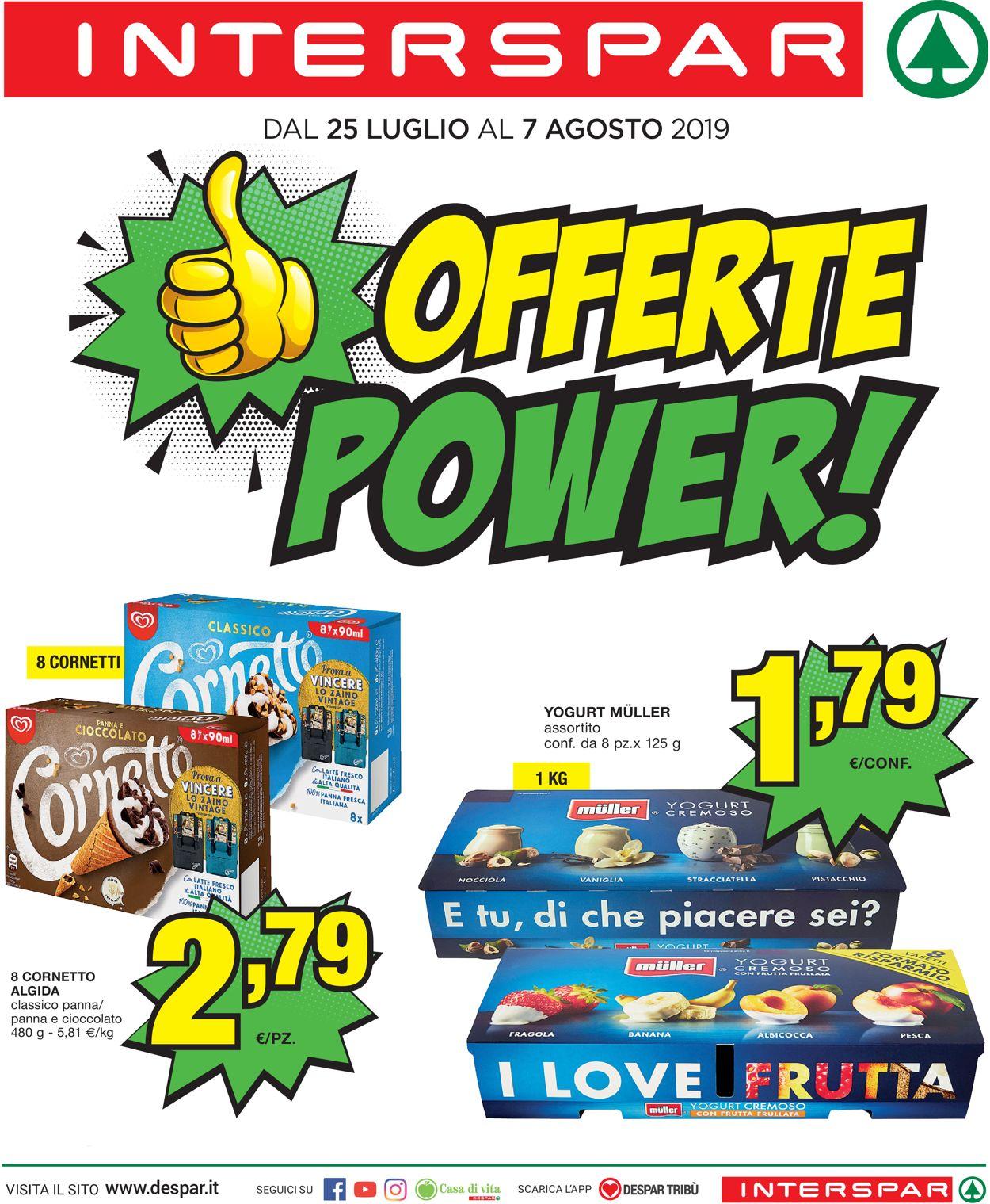 Volantino Interspar - Offerte 25/07-07/08/2019