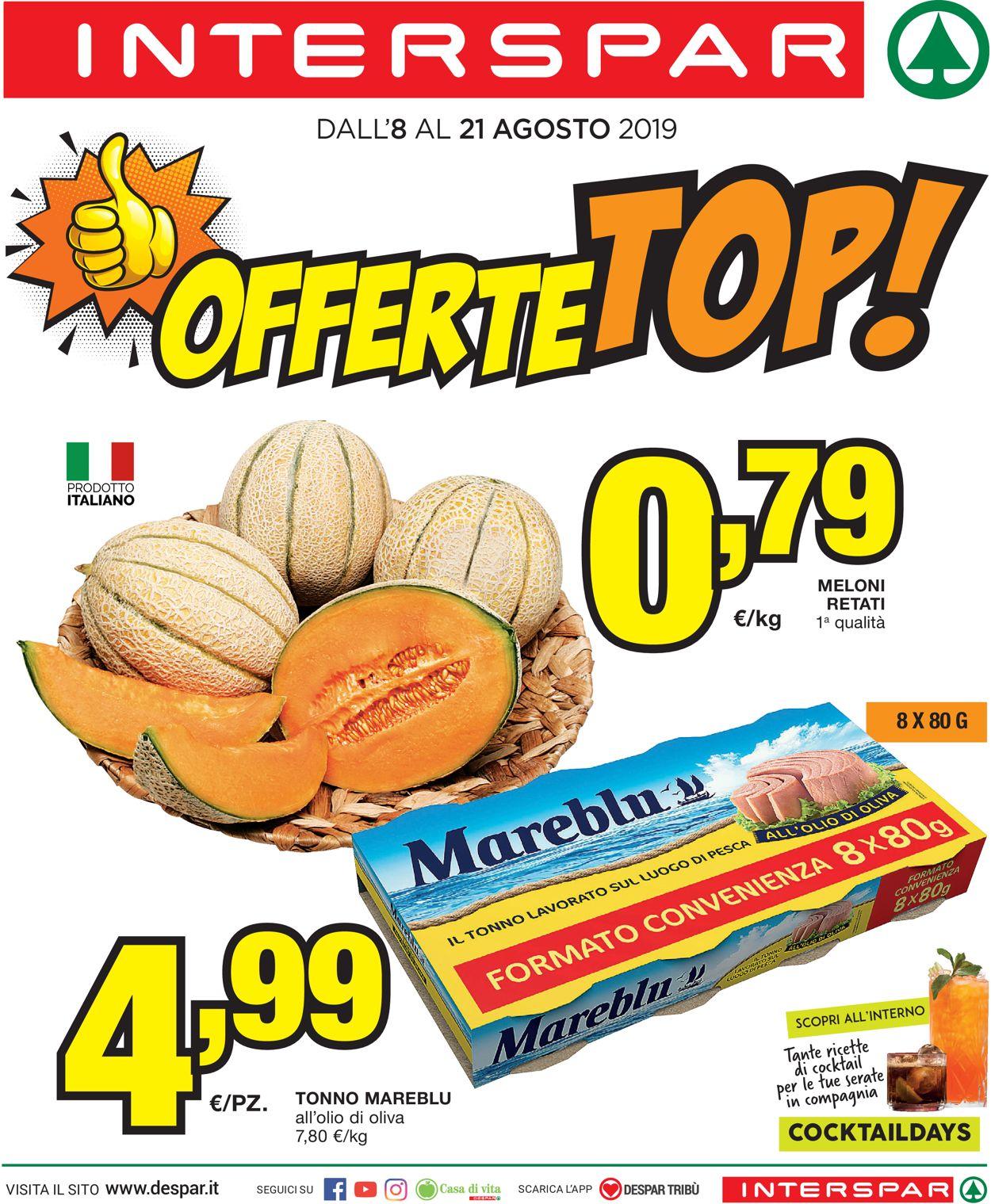 Volantino Interspar - Offerte 08/08-21/08/2019
