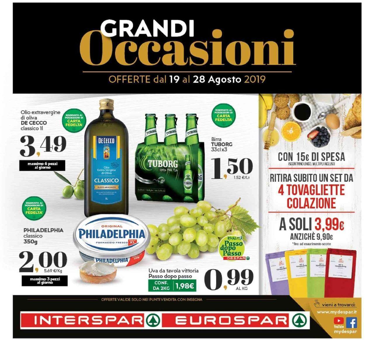 Volantino Interspar - Offerte 19/08-28/08/2019
