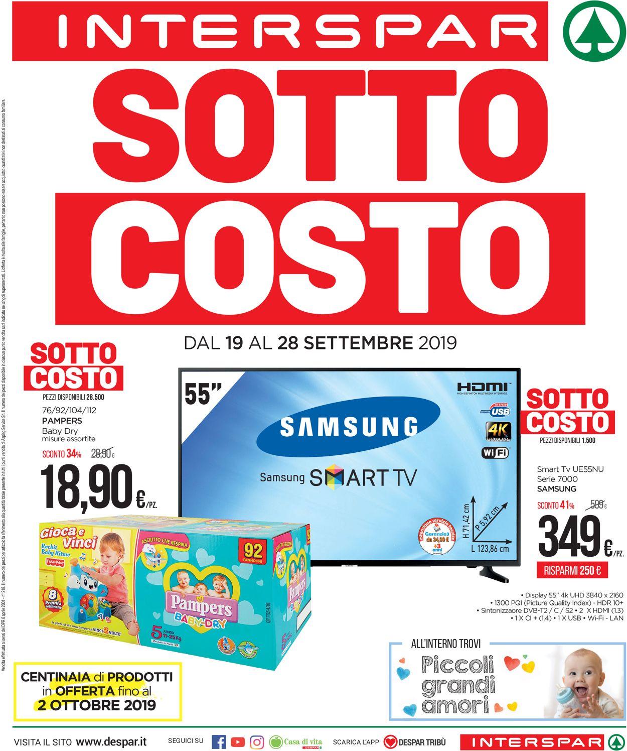 Volantino Interspar - Offerte 19/09-28/09/2019