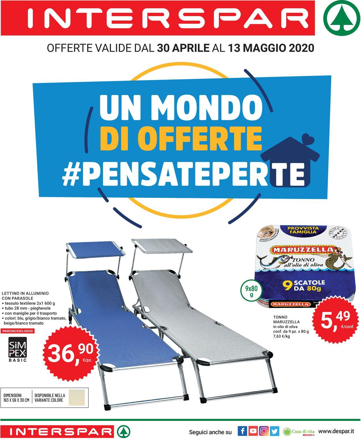 Volantino Interspar - Offerte 30/04-13/05/2020