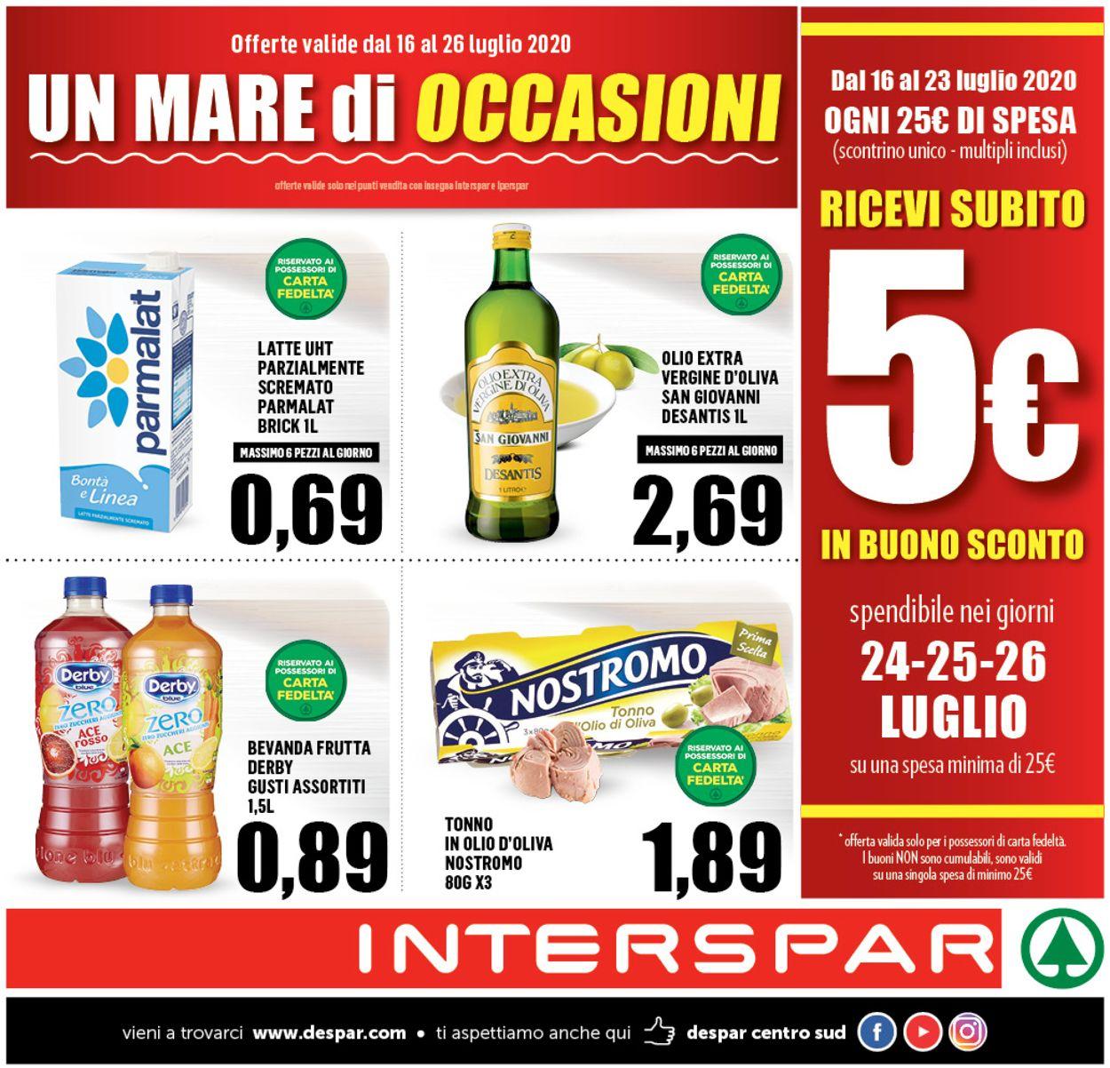 Volantino Interspar - Offerte 16/07-26/07/2020