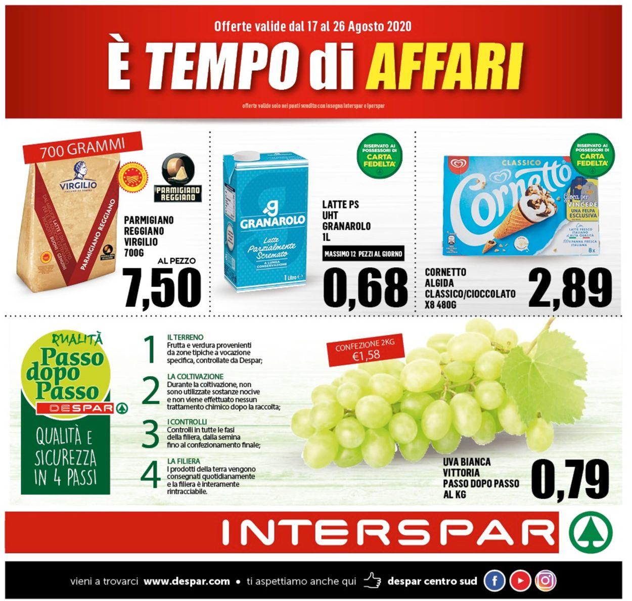 Volantino Interspar - Offerte 16/08-26/08/2020