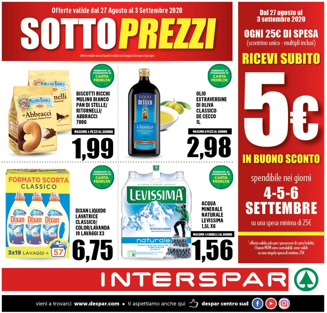 Volantino Interspar - Offerte 26/08-03/09/2020