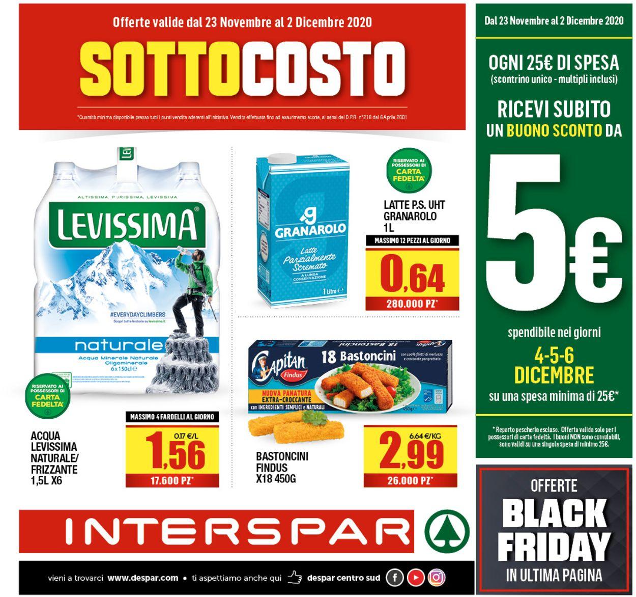 Volantino Interspar - Black Friday 2020 - Offerte 23/11-02/12/2020