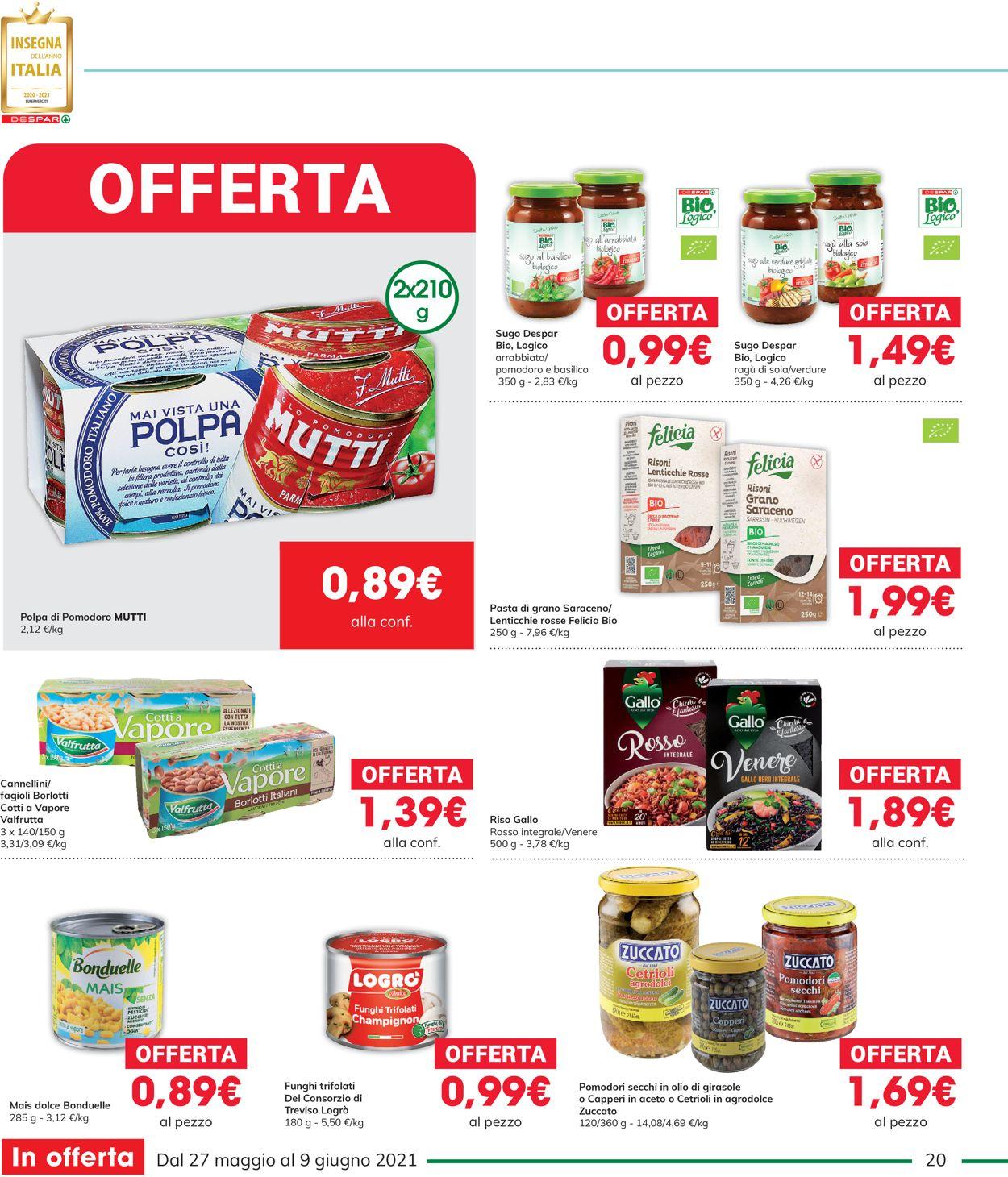 Volantino Interspar - Offerte 27/05-09/06/2021 (Pagina 20)