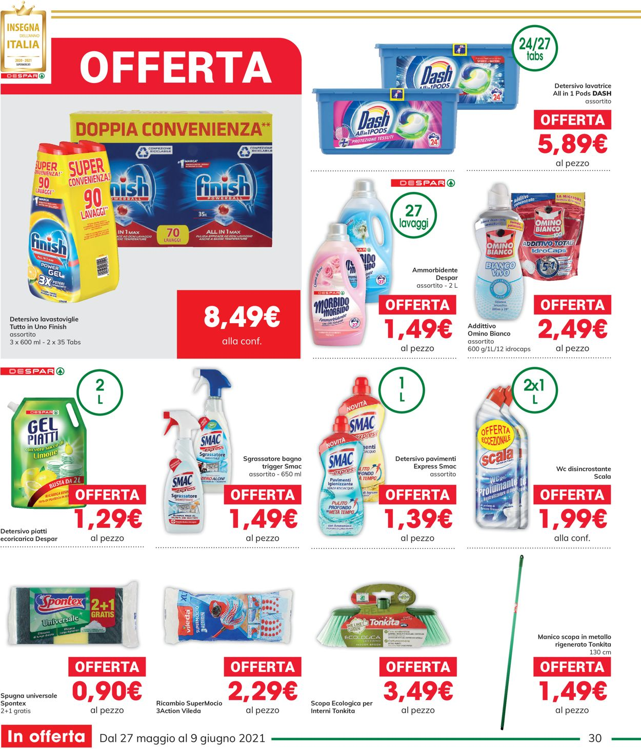 Volantino Interspar - Offerte 27/05-09/06/2021 (Pagina 30)