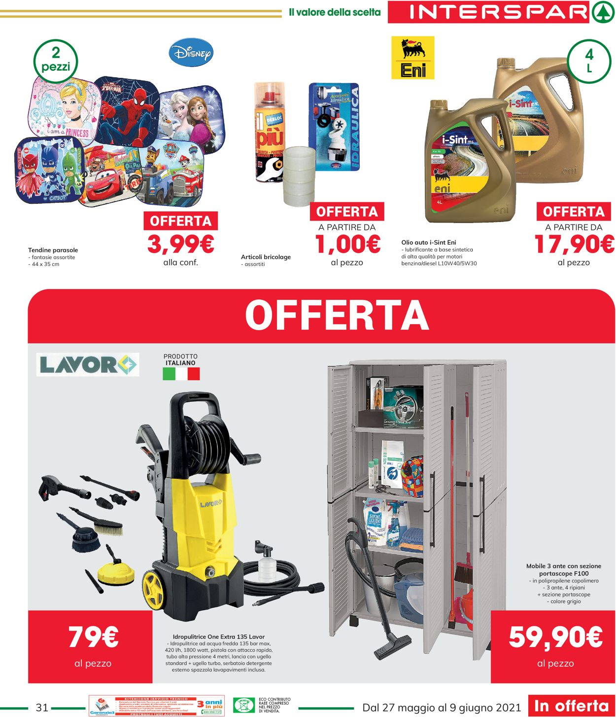 Volantino Interspar - Offerte 27/05-09/06/2021 (Pagina 31)