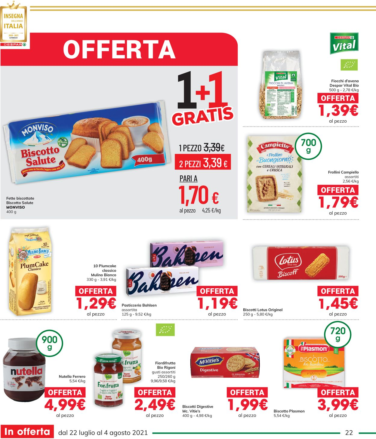 Volantino Interspar - Offerte 22/07-04/08/2021 (Pagina 22)