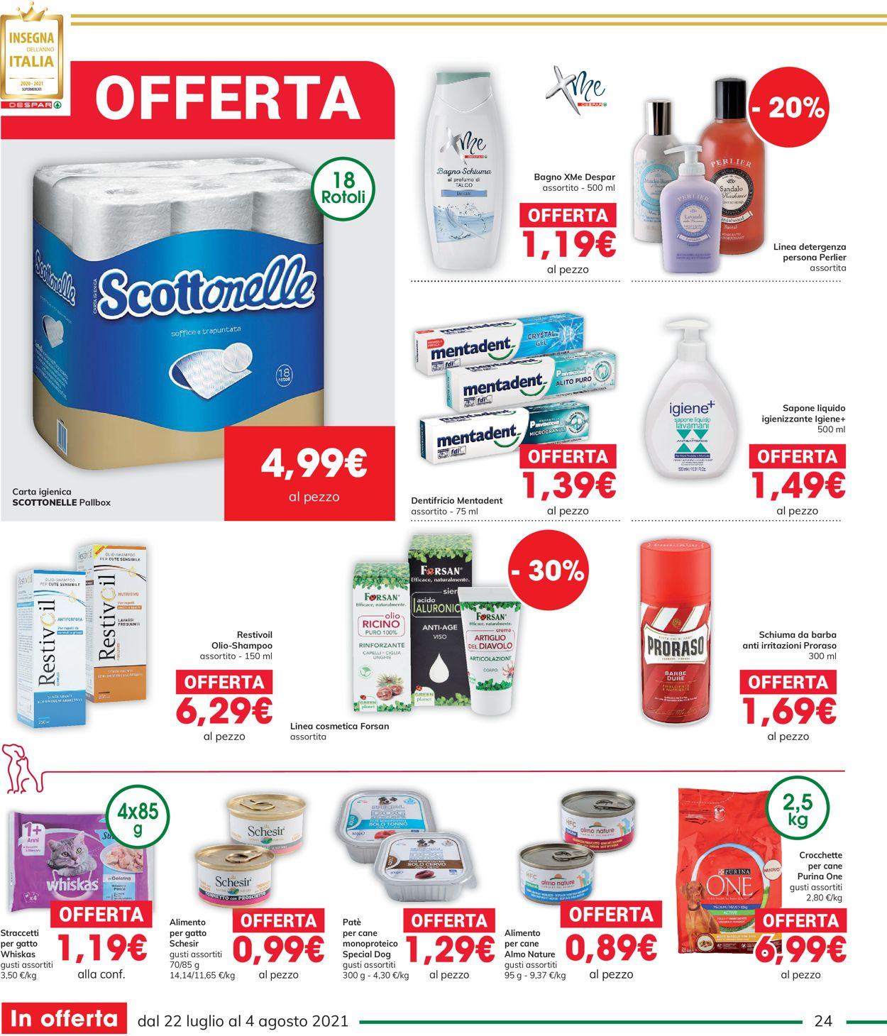 Volantino Interspar - Offerte 22/07-04/08/2021 (Pagina 24)