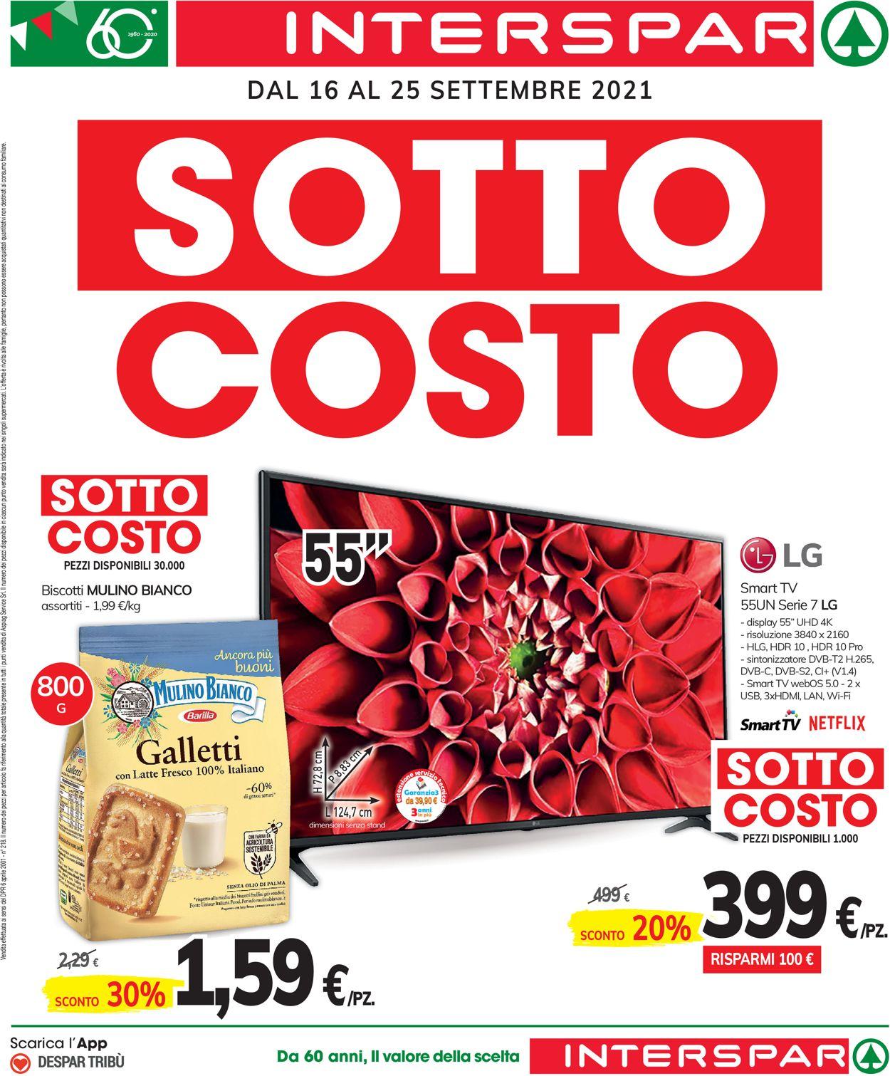 Volantino Interspar - Offerte 16/09-26/09/2021