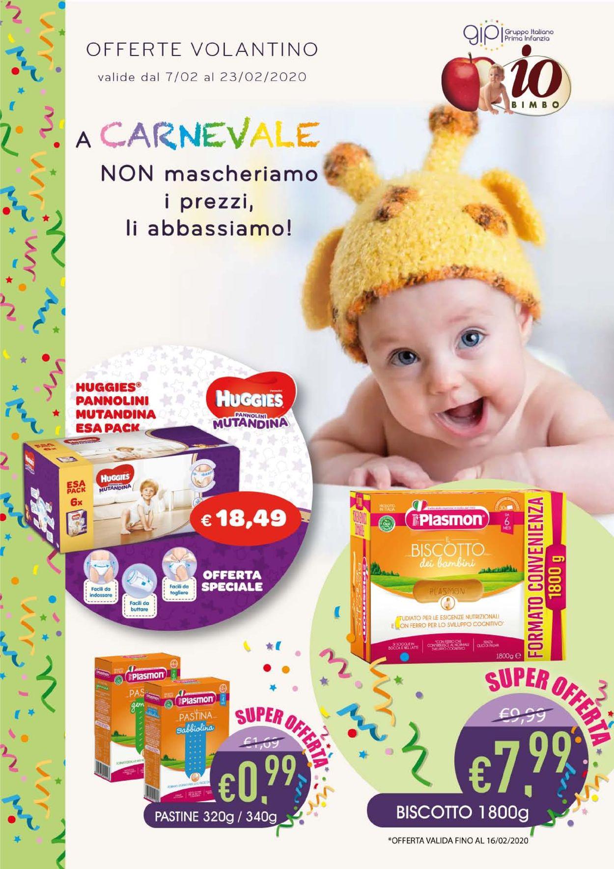 Volantino Io Bimbo - Offerte 07/02-23/02/2020