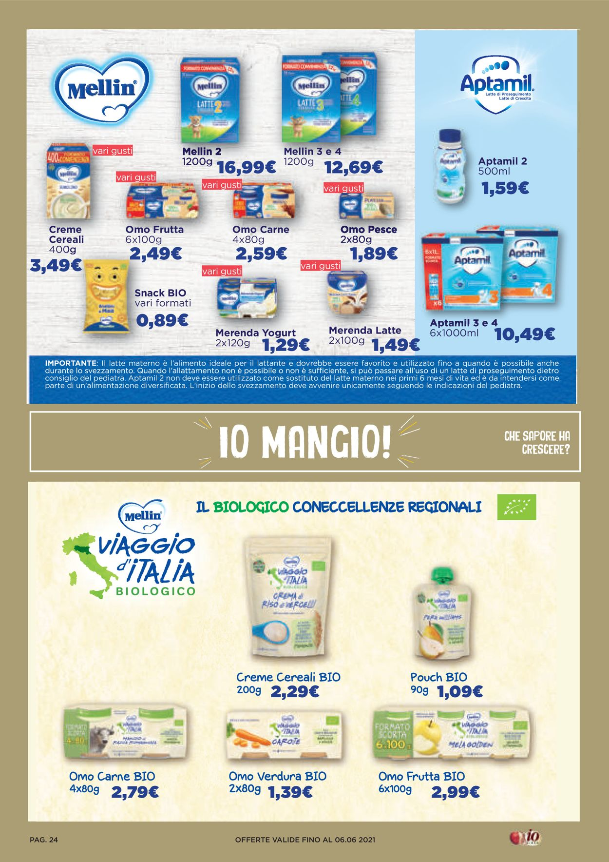 Volantino Io Bimbo - Offerte 21/05-06/06/2021 (Pagina 24)