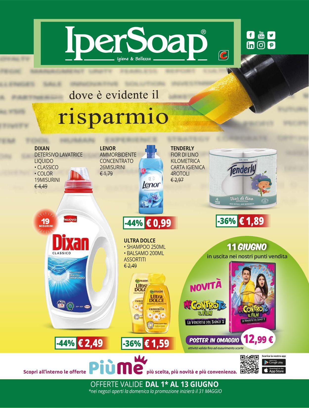 Volantino IperSoap - Offerte 31/05-13/06/2020