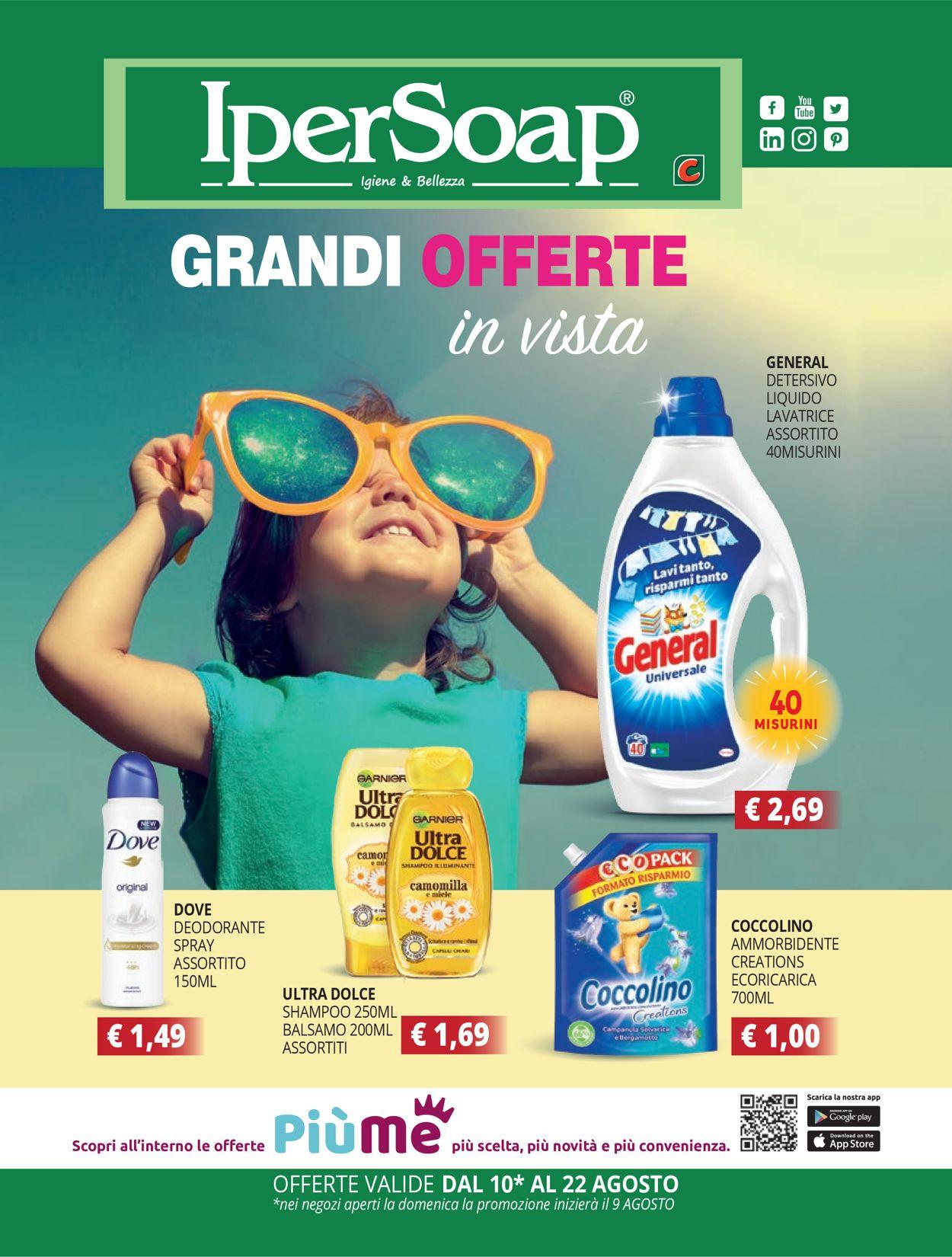 Volantino IperSoap - Offerte 09/08-22/08/2020