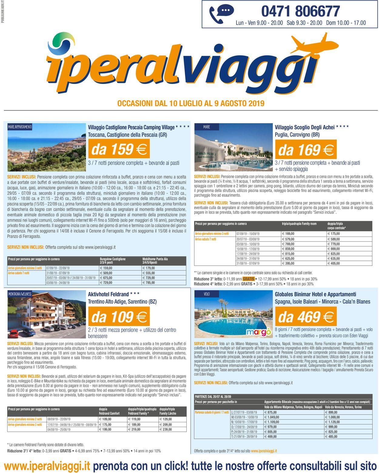 Volantino Iperal - Offerte 10/07-09/08/2019