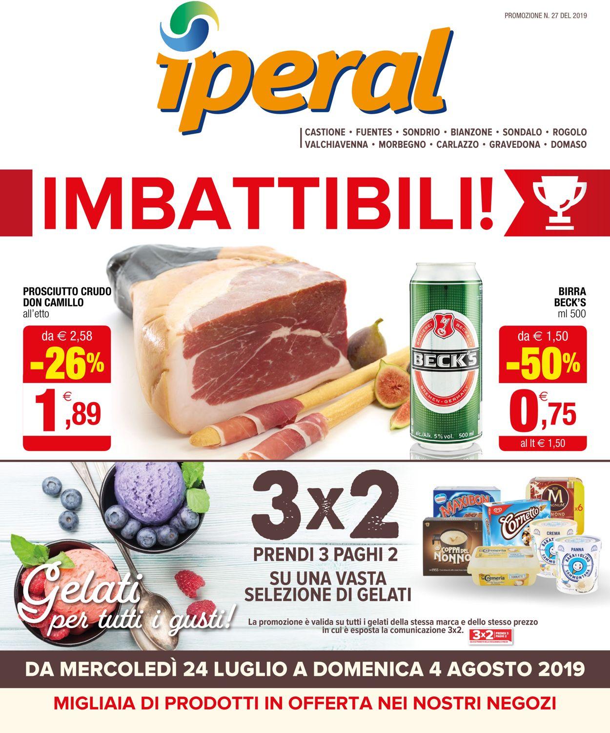 Volantino Iperal - Offerte 24/07-04/08/2019