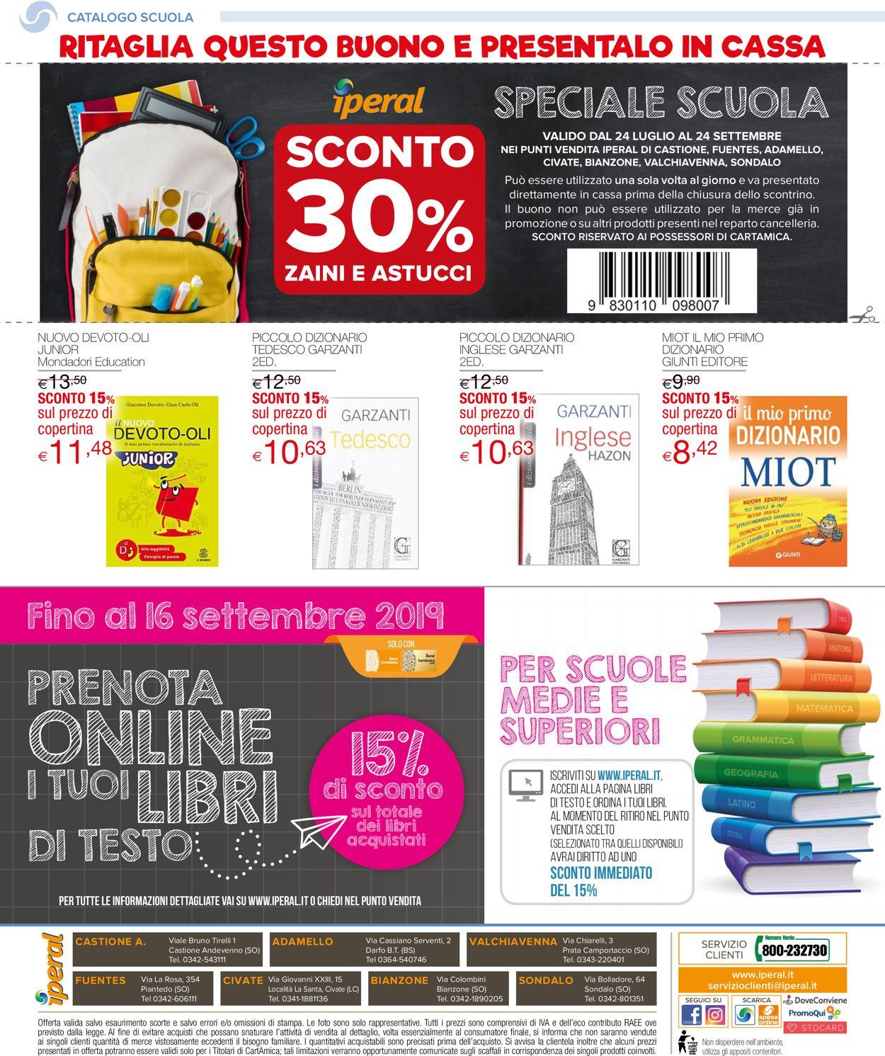 Volantino Iperal - Offerte 24/07-24/09/2019 (Pagina 24)