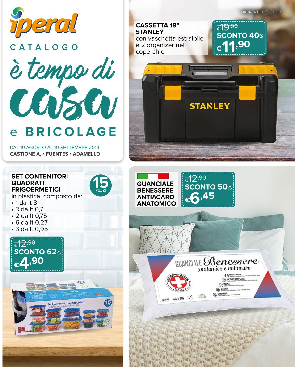 Volantino Iperal - Offerte 19/08-10/09/2019