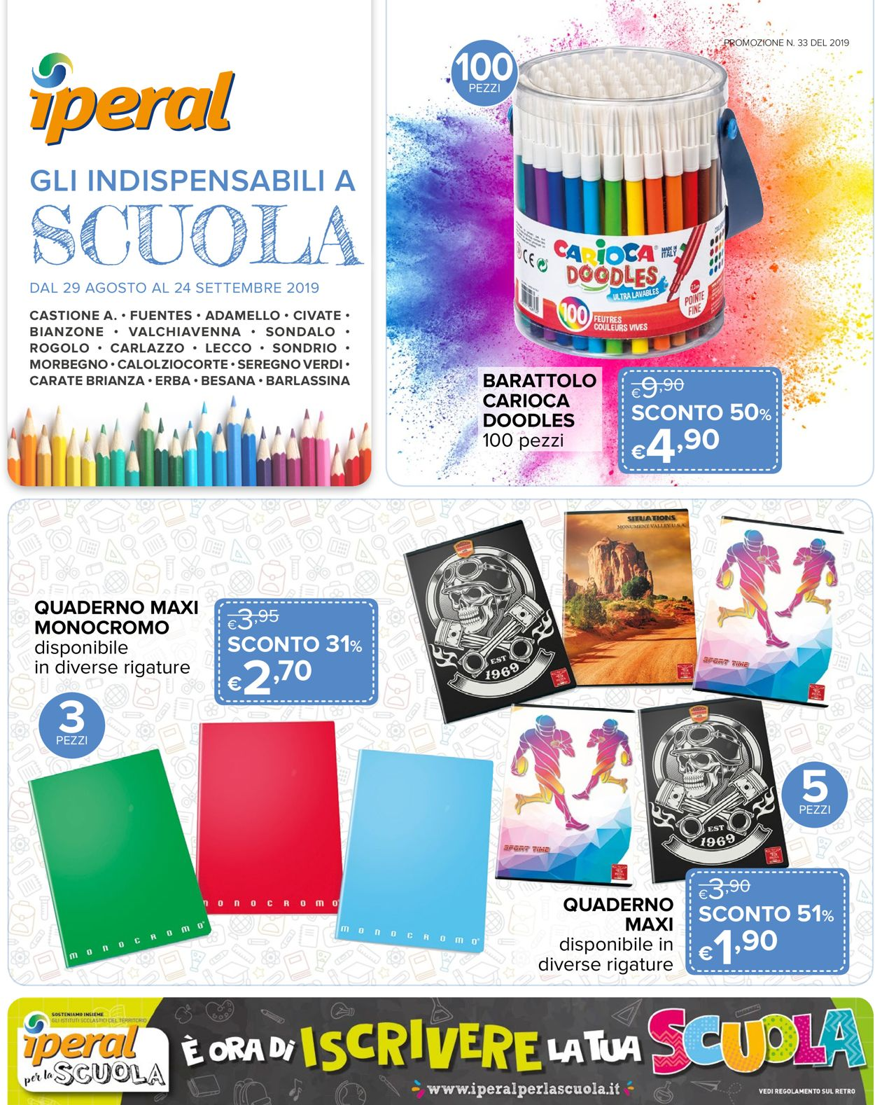 Volantino Iperal - Offerte 29/08-24/09/2019