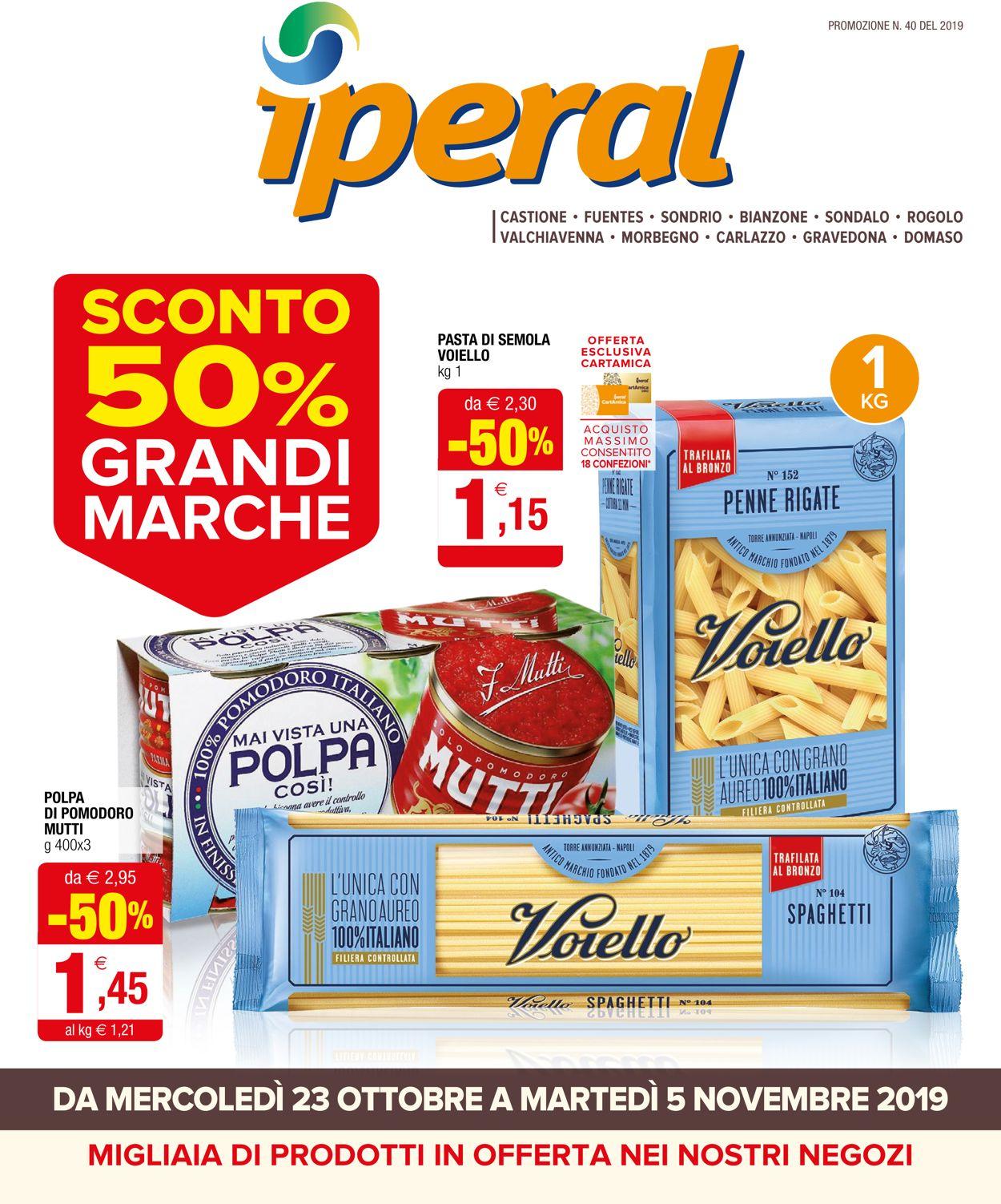 Volantino Iperal - Offerte 23/10-05/11/2019