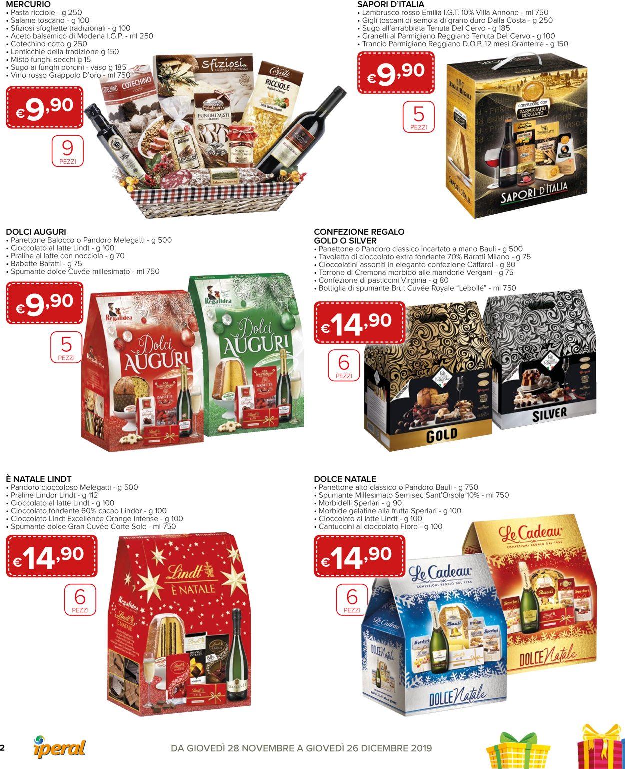 Volantino Il volantino natalizio di Iperal - Offerte 28/11-26/12/2019 (Pagina 2)