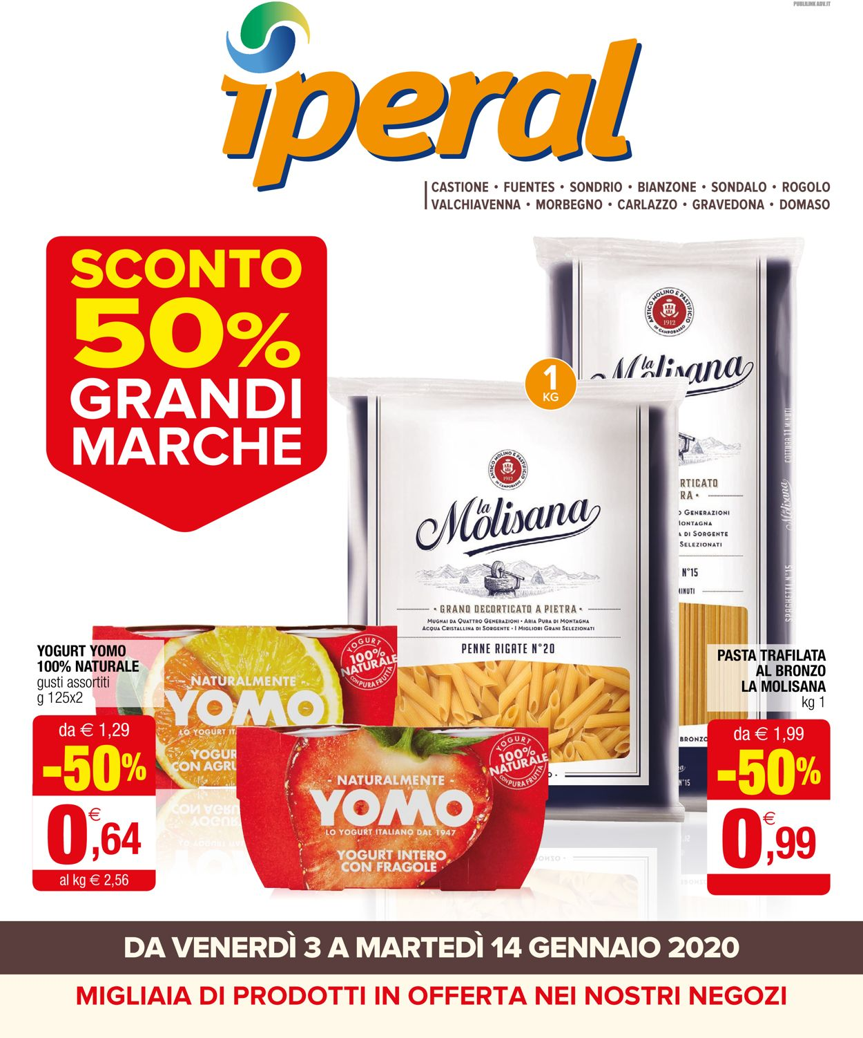 Volantino Iperal - Offerte 03/01-14/01/2020