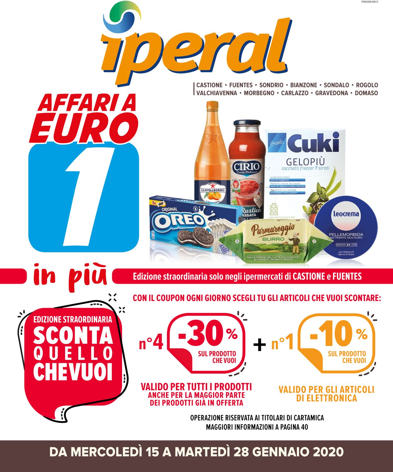 Volantino Iperal - Offerte 15/01-28/01/2020