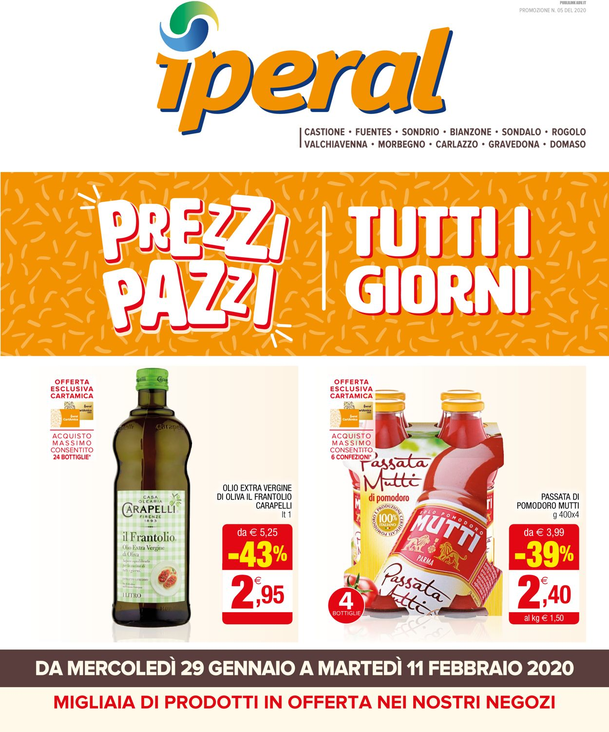 Volantino Iperal - Offerte 29/01-11/02/2020