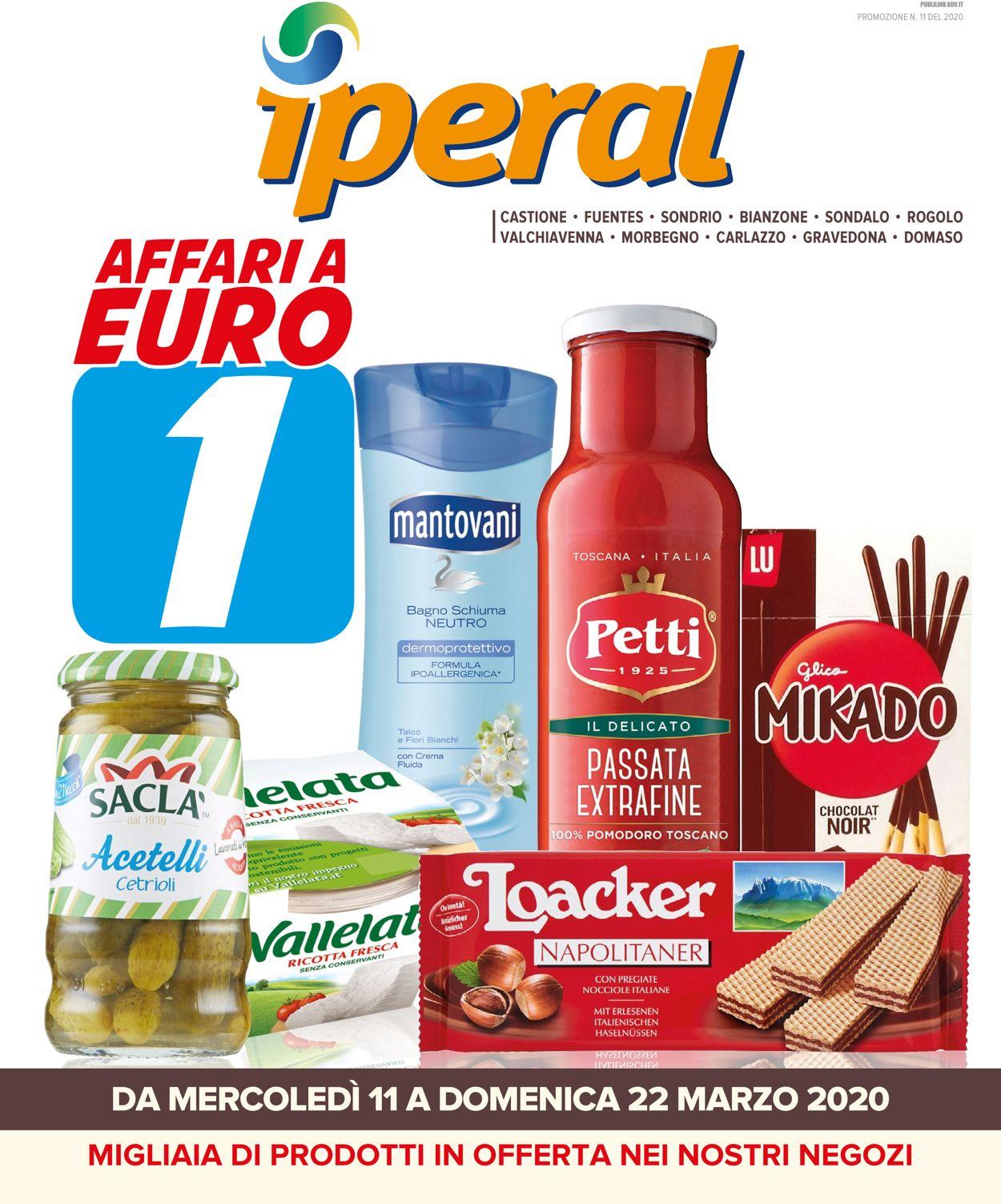 Volantino Iperal - Offerte 11/03-22/03/2020