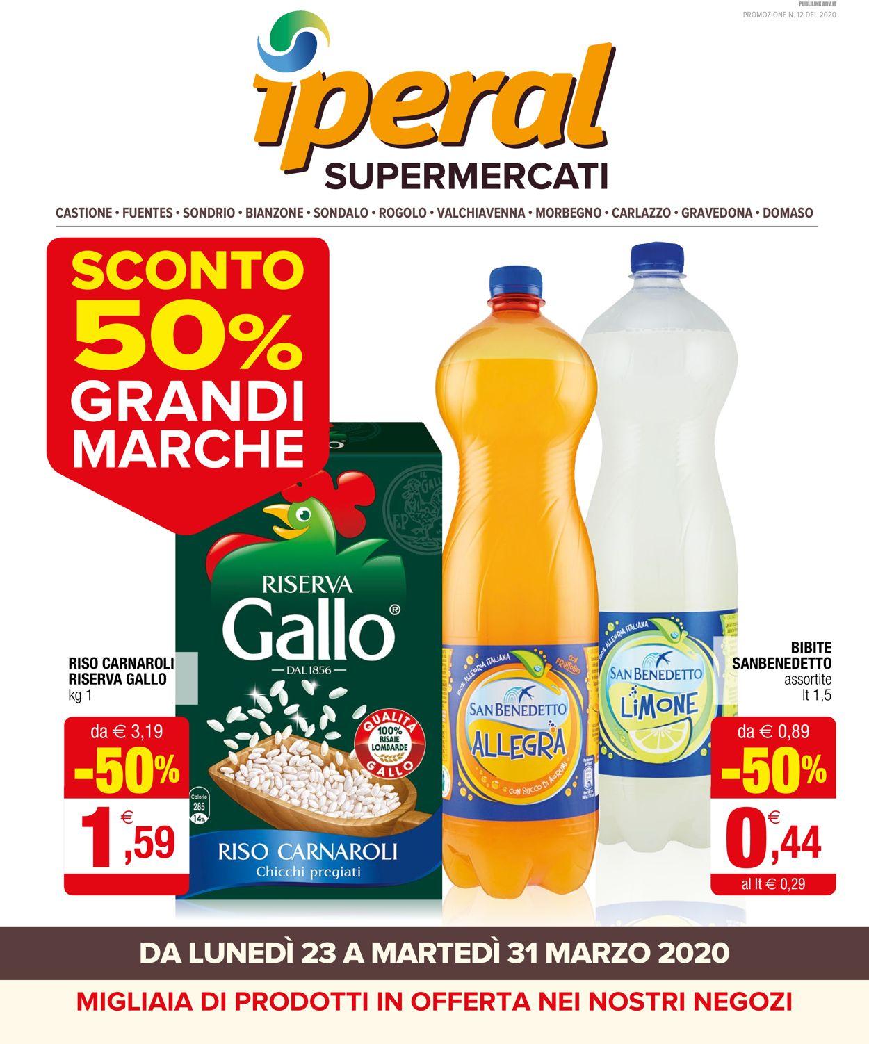 Volantino Iperal - Offerte 23/03-31/03/2020