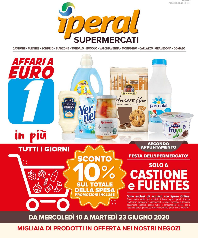Volantino Iperal - Offerte 10/06-23/06/2020