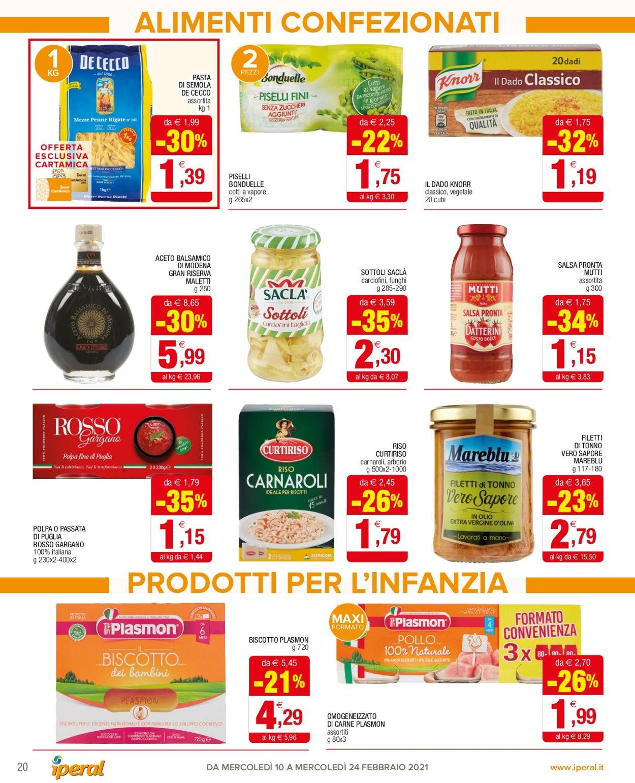 Volantino Iperal Supermercati - Offerte 10/02-24/02/2021 (Pagina 20)