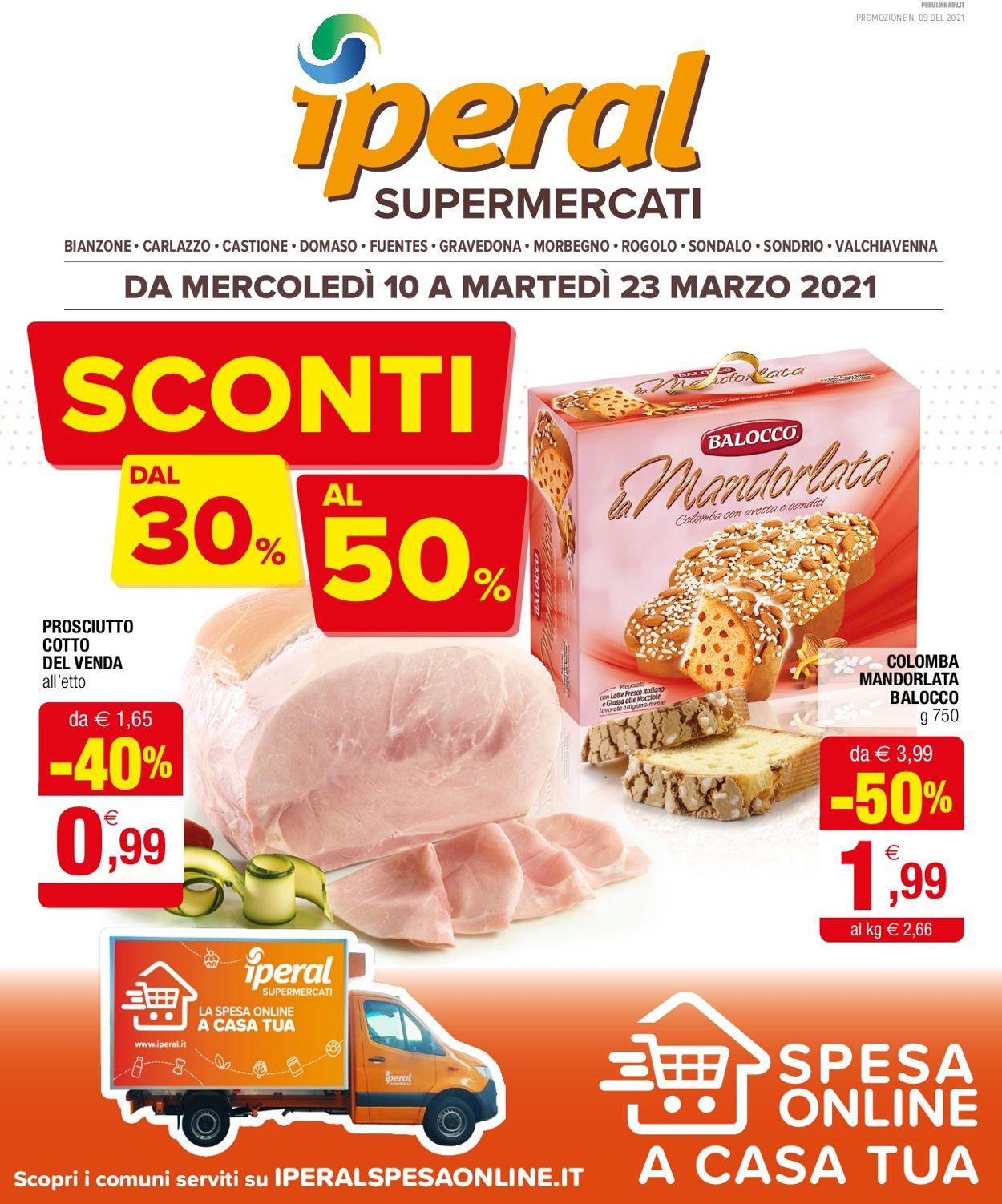 Volantino Iperal - Offerte 10/03-23/03/2021