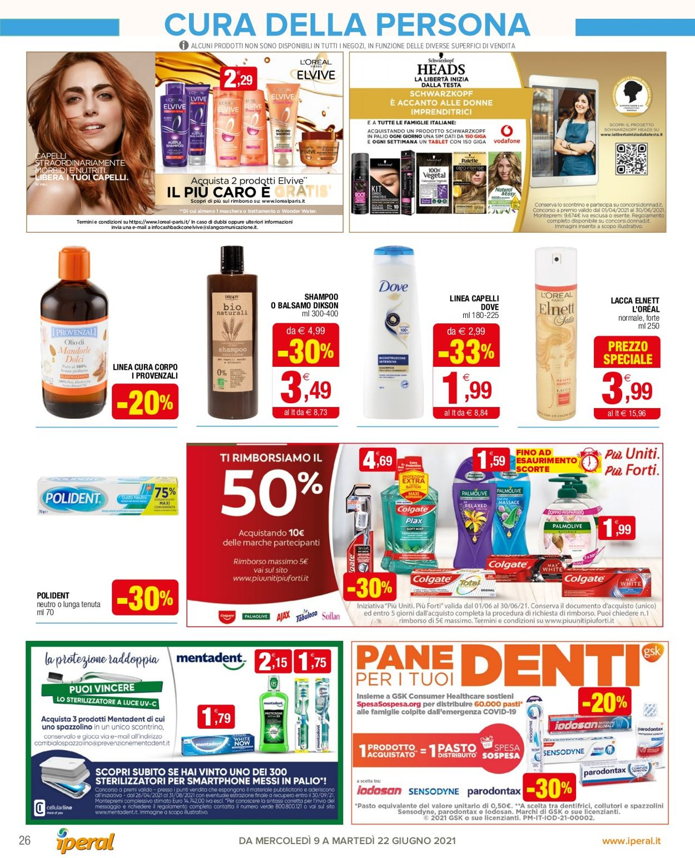 Volantino Iperal - Offerte 09/06-22/06/2021 (Pagina 26)