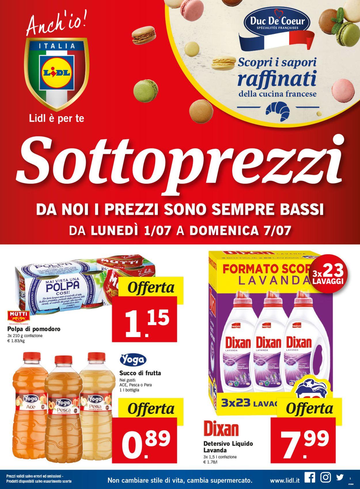 Volantino Lidl - Offerte 01/07-07/07/2019