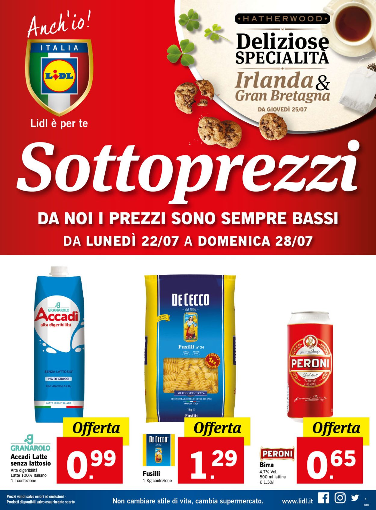 Volantino Lidl - Offerte 22/07-28/07/2019