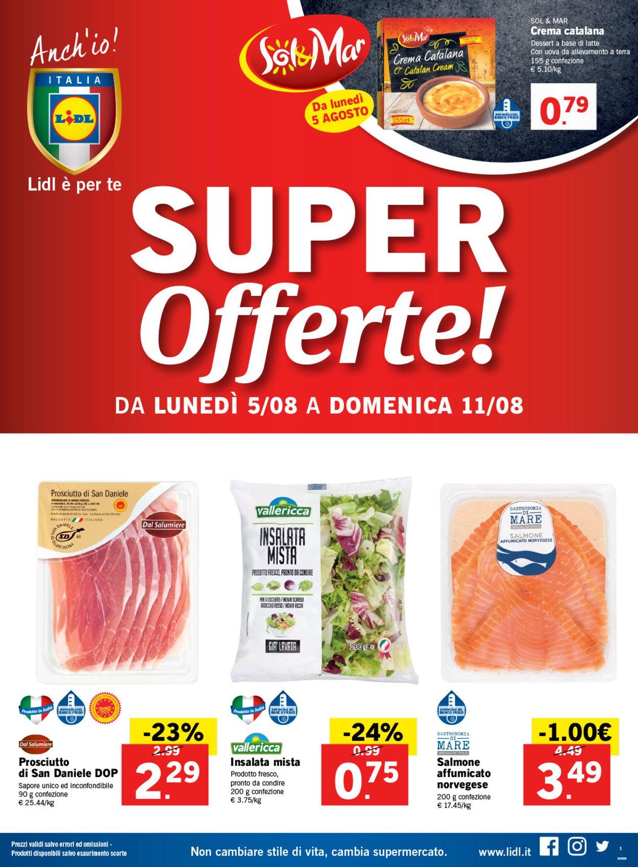 Volantino Lidl - Offerte 05/08-11/08/2019