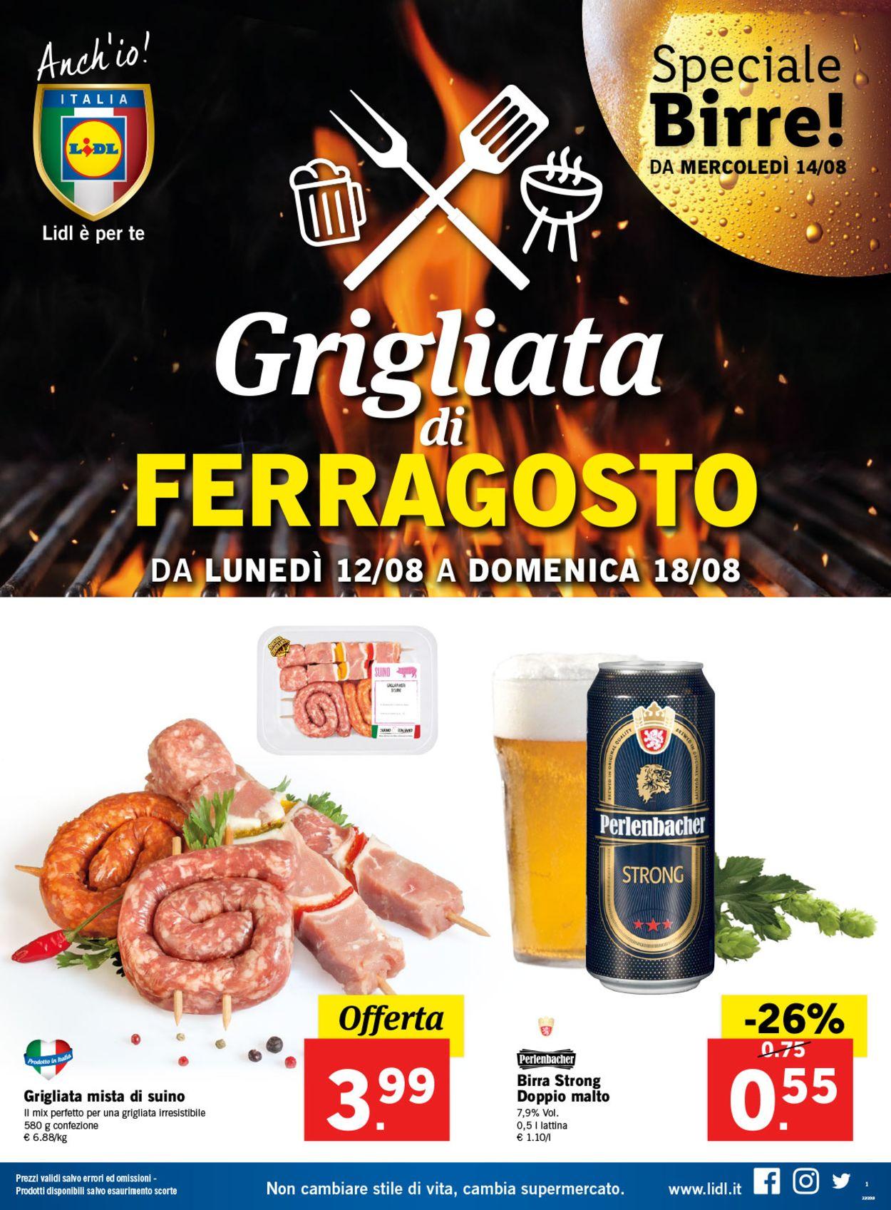 Volantino Lidl - Offerte 12/08-18/08/2019