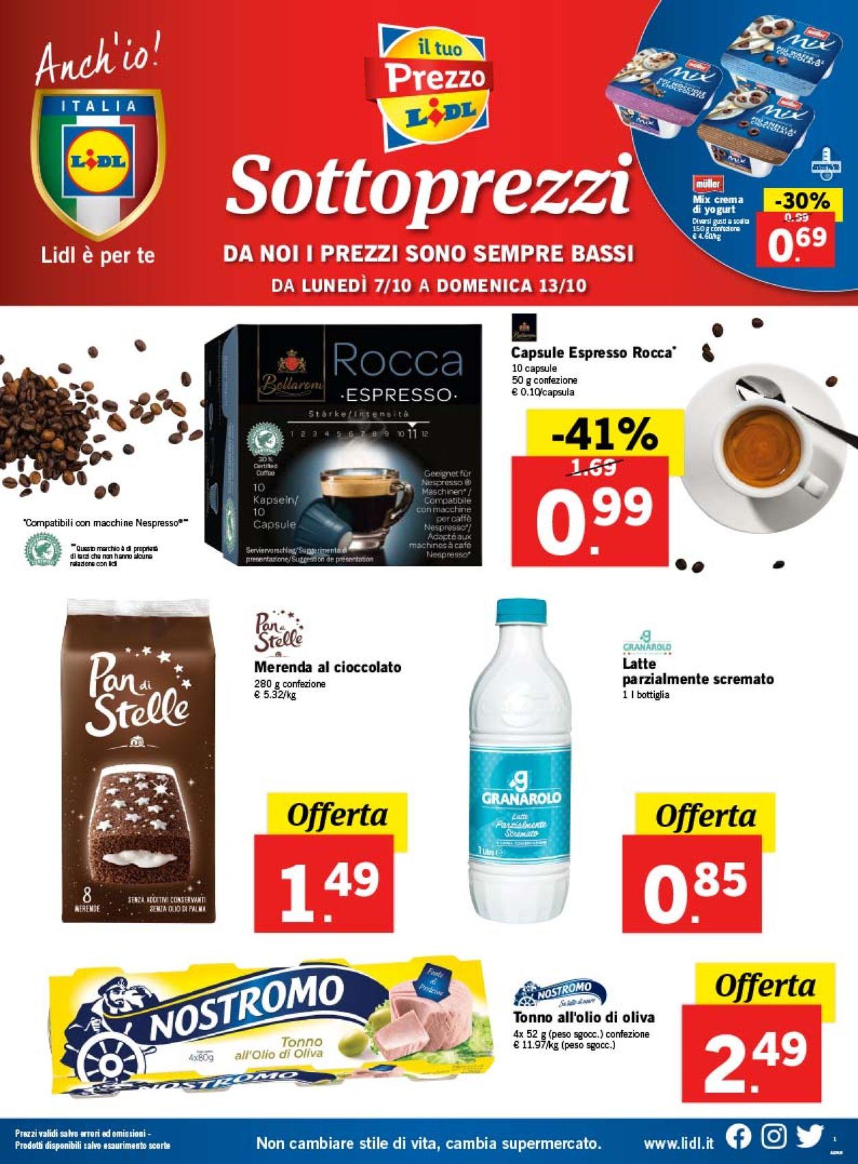 Volantino Lidl - Offerte 07/10-13/10/2019