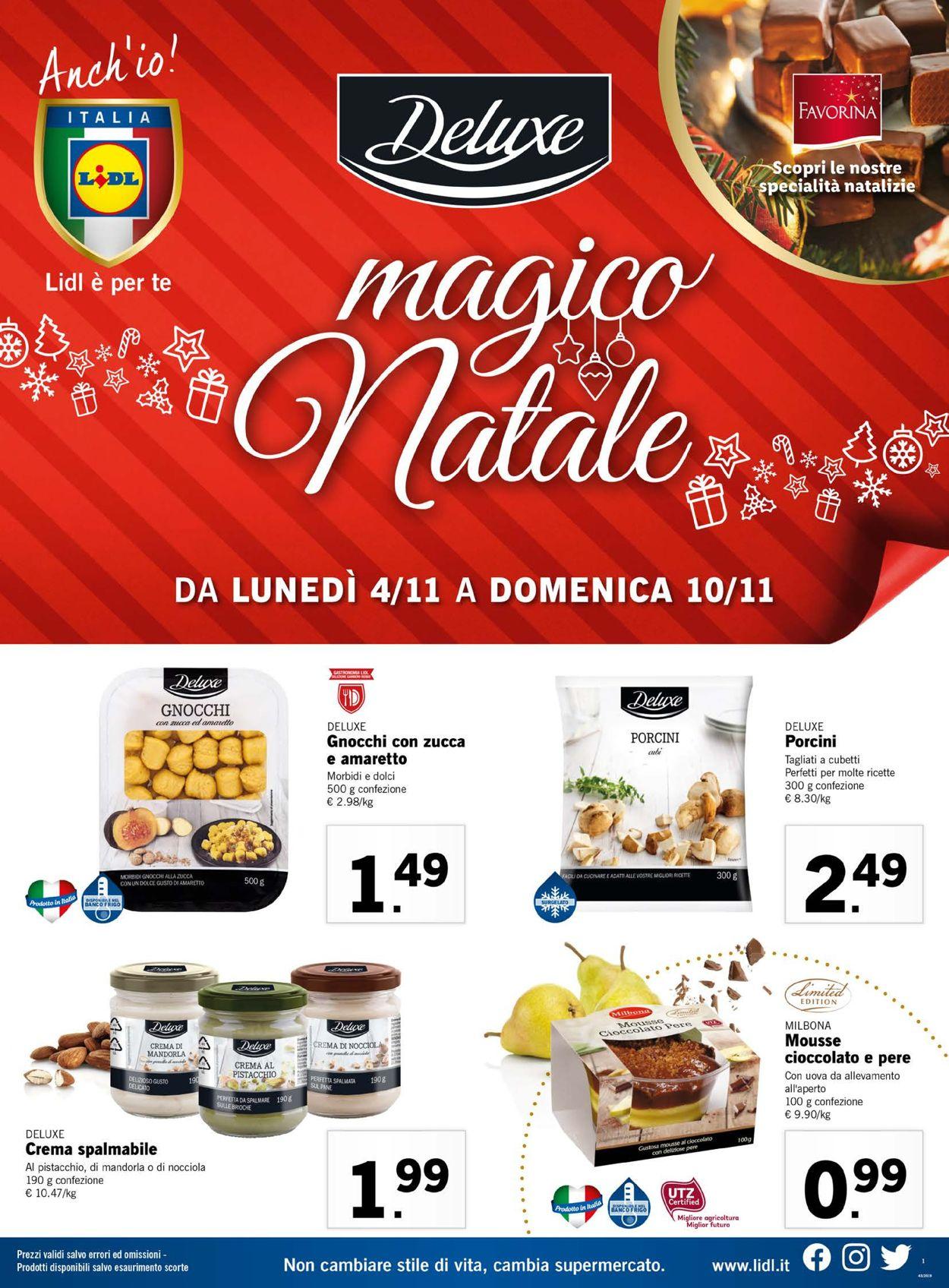 Volantino Lidl - Offerte 04/11-10/11/2019