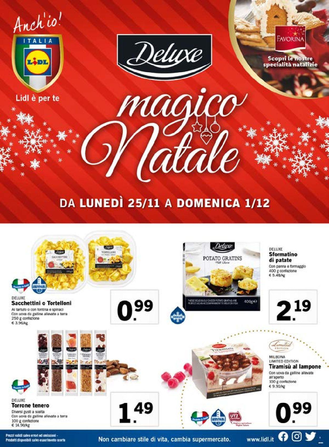 Volantino Il volantino natalizio di Lidl - Offerte 25/11-01/12/2019