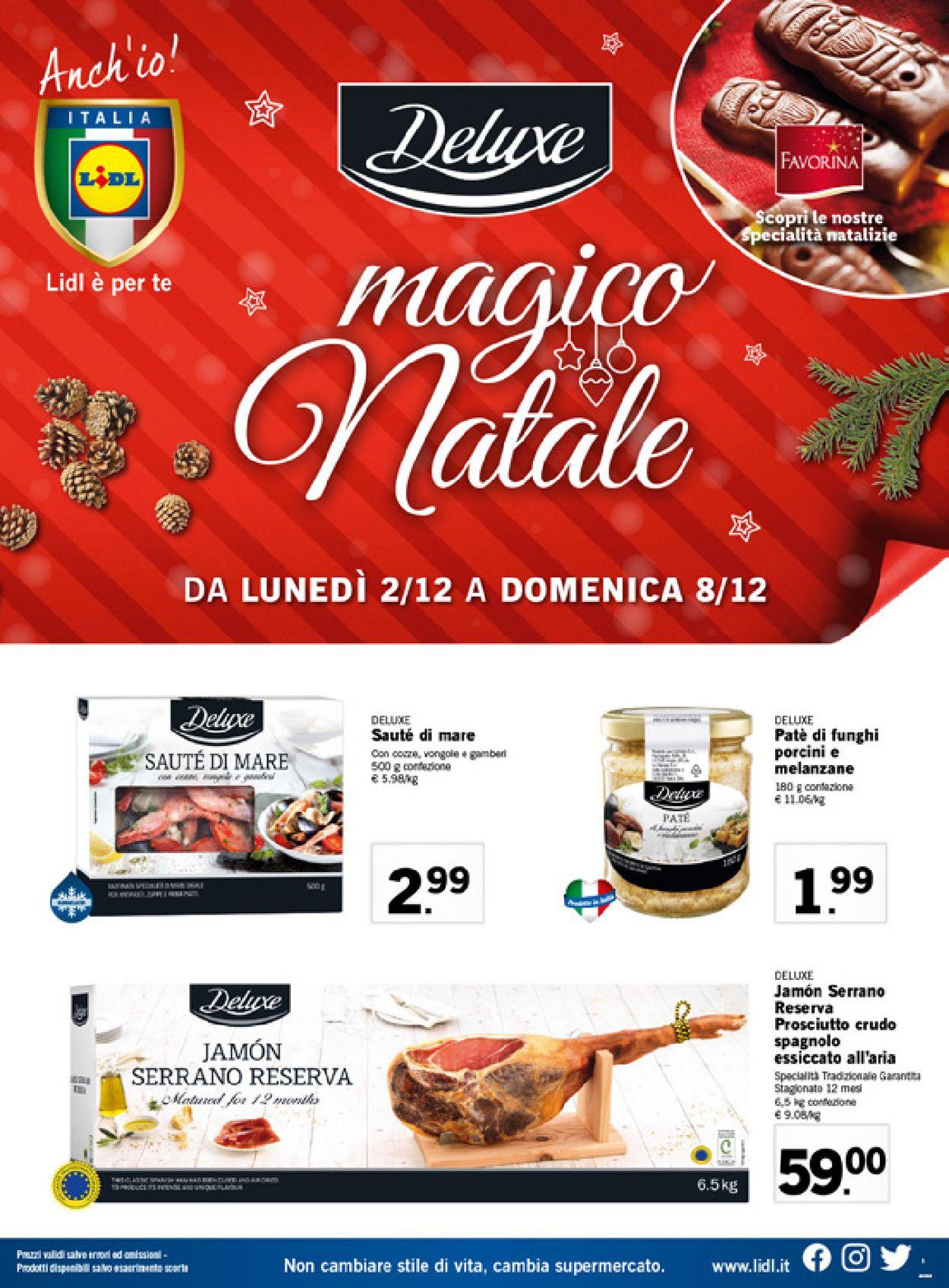 Volantino Il volantino natalizio di Lidl - Offerte 02/12-08/12/2019